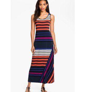 Calvin Klein sz 8 stripped maxi dress